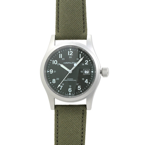 ハミルトン カーキ フィールド メカ メンズ H69419363 カーキ/カーキキャンパスストラップ  時計/ウォッチ