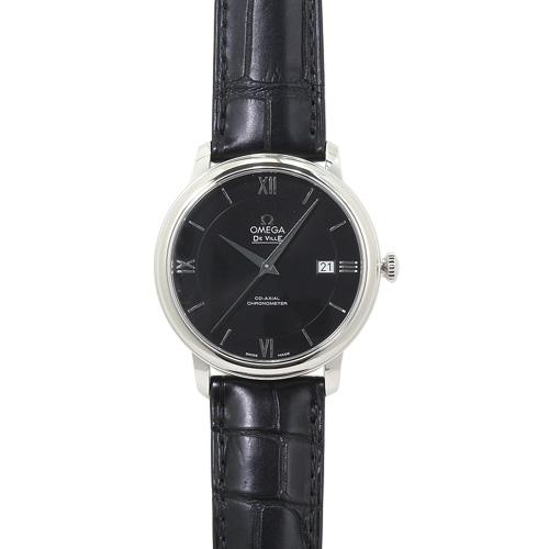 オメガ デ・ビル プレステージ コーアクシャル クロノメーター メンズ 424.13.40.20.01.001:ブラック/ブラックレザー 時計/ウォッチ