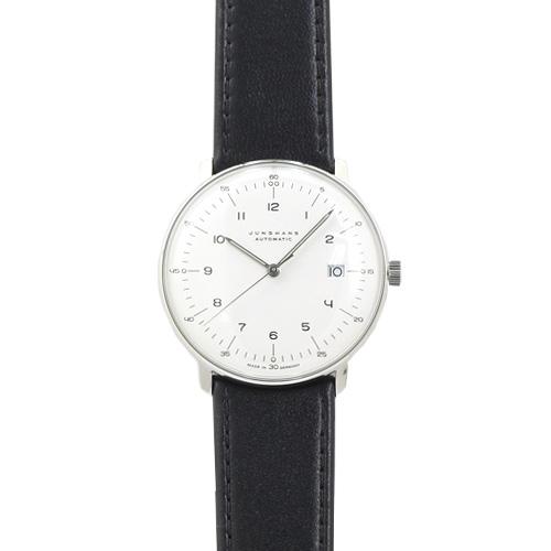ユンハンス JUNGHANS マックスビル メンズ 027/4700.00 シルバー/ブラックレザー 時計/ウォッチ