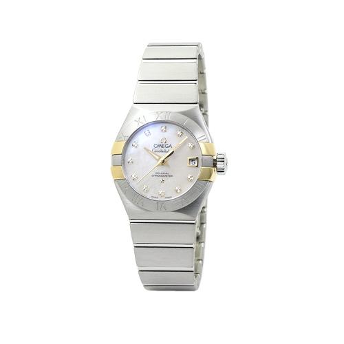 オメガ OMEGA コンステレーション コーアクシャル レディース 123.20.27.20.55.005:ホワイトシェル/12Pダイヤ 時計/ウォッチ