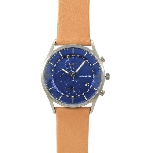 スカーゲン SKAGEN SKW6285 ホルスト ワールドタイム メンズ ブルー/ライトブラウンレザー 時計/ウォッチ