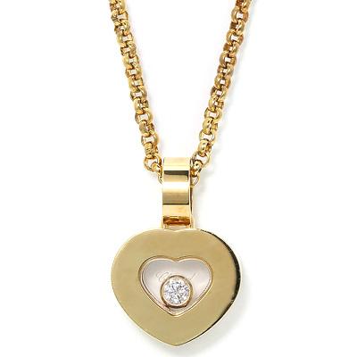 ショパール Chopard ハッピーダイヤモンド アイコン ペンダント ネックレス 79/2897-0001 K18YG/1Pダイヤ/ハート