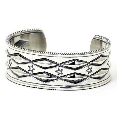 コディ サンダーソン バングル シルバー925 Long Diamond Cuff bracelet Mサイズインディアンジュエリー