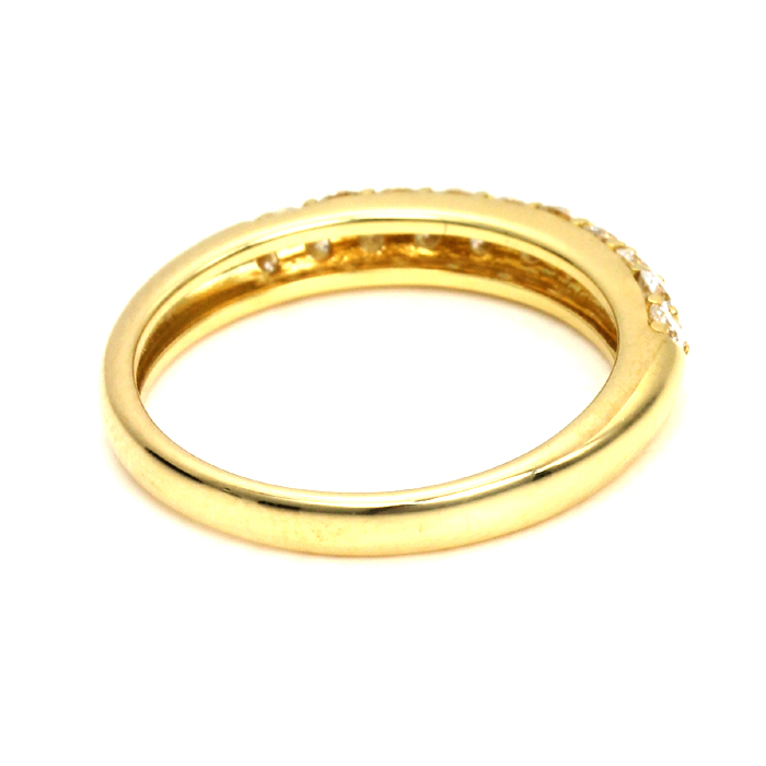 プティシエル Pciel K18イエローゴールド Total ダイヤ0.55ct パヴェ リング 指輪 YR4683WD