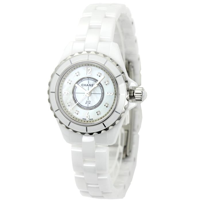 シャネル CHANEL J12 ダイヤ8P レディース 時計 ウォッチ H2570 ホワイトシェル文字盤 【キャッシュレス還元対応】