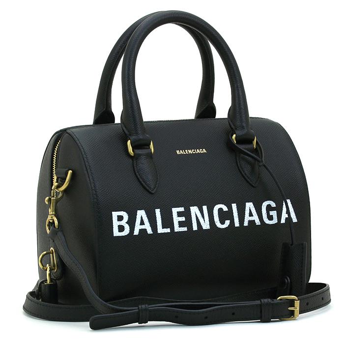 バレンシアガ BALENCIAGA スモールヴィルボウリングバッグ SMALL VILLE BOWLING BAG ハンドバッグ(ショルダー付) 518872 0OT0M