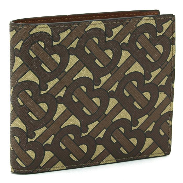 バーバリー BURBERRY 二つ折り財布 8022913 1 ブライドルブラウン 【キャッシュレス還元対応】