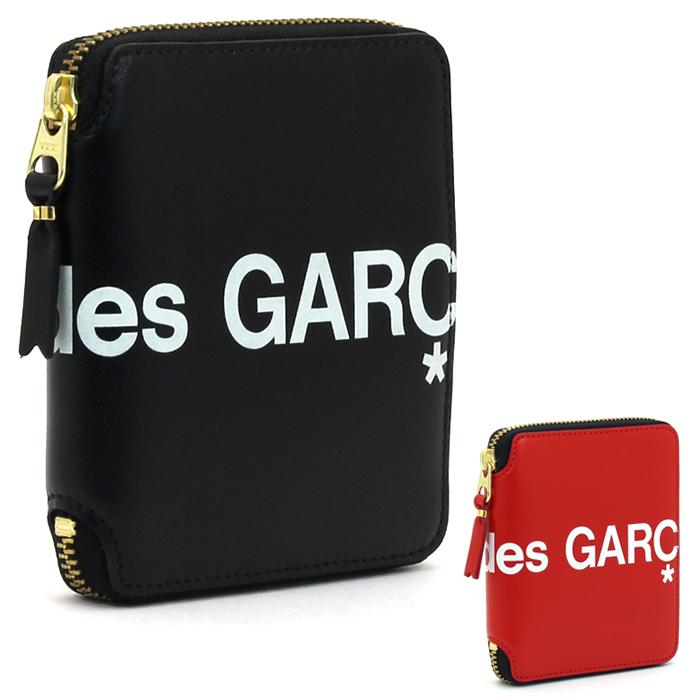 コムデギャルソン COMME des GARCONS ヒュージロゴ HUGE LOGO 二つ折り財布ラウンドファスナー SA2100HL 【キャッシュレス還元対応】