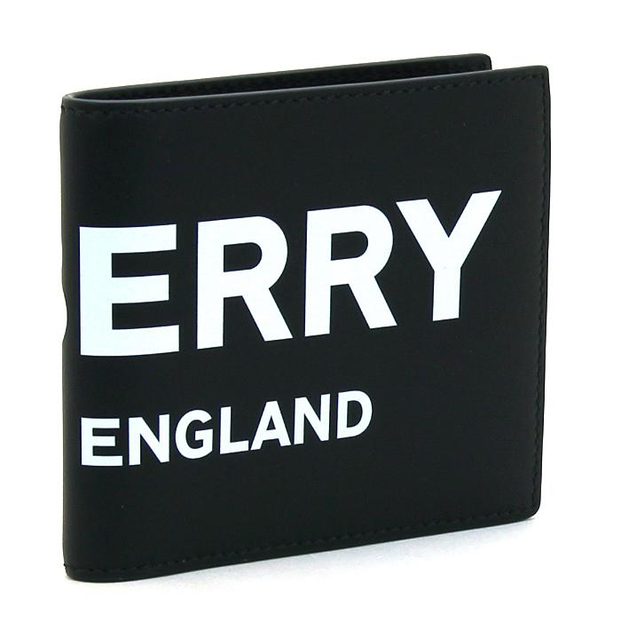 バーバリー BURBERRY 二つ折り財布 8008887 1 ブラック 【キャッシュレス還元対応】