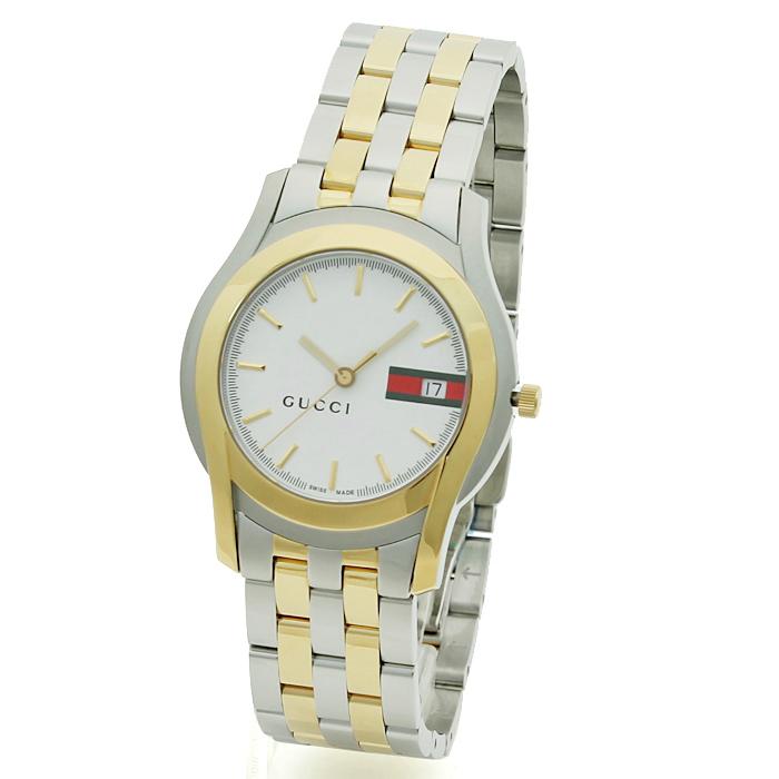 グッチ GUCCI Gクラス G CLASS メンズ 時計 ウォッチ YA055313 ホワイト文字盤