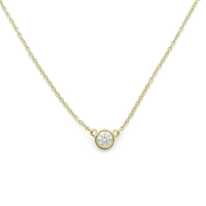 ティファニー TIFFANY ダイヤモンド バイザヤード ペンダント 35008322 K18イエローゴールド ダイヤ0.17ct