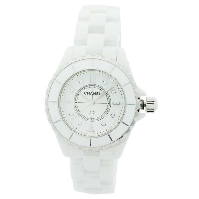シャネル CHANEL J12 ダイヤ8P レディース 時計 ウォッチ H2422 ホワイトシェル文字盤