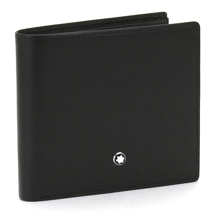【送料無料】モンブラン MONTBLANC 二つ折り財布 7164 ブラック