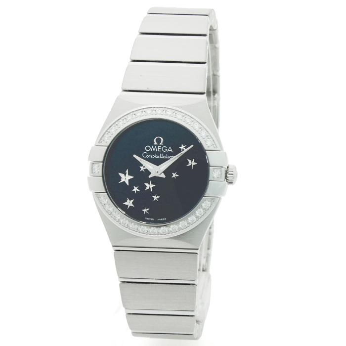 オメガ OMEGA コンステレーションスター ベゼルダイヤ レディース 時計 ウォッチ 123 15 24 60 03 001 ブルー文字盤