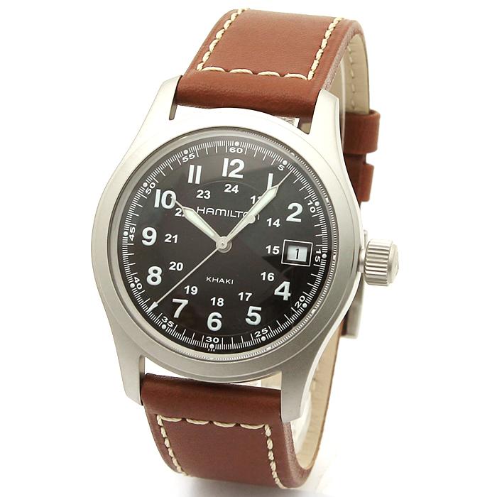 ハミルトン HAMILTON カーキ フィールド メンズ 時計 ウォッチ H68411533 ブラック 【キャッシュレス還元対応】