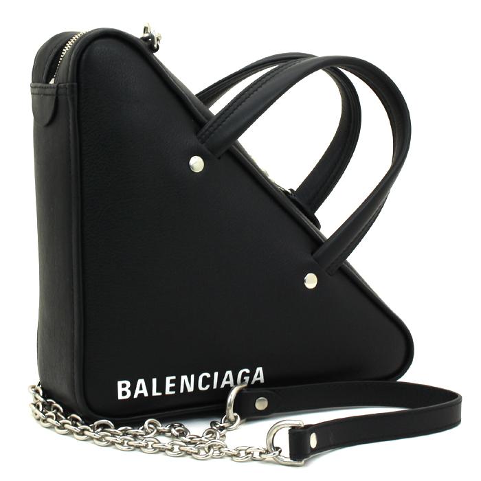 バレンシアガ BALENCIAGA トライアングルダッフル XS チェーン ハンドバッグ(ショルダー付) 527272 C8K02
