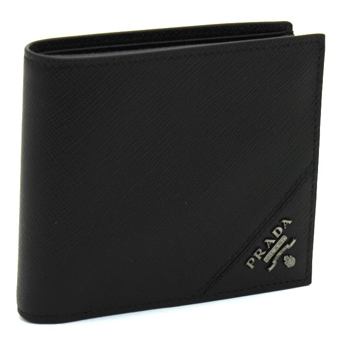 プラダ PRADA 二つ折り財布 2MO738 SAFFIANO METAL 【キャッシュレス還元対応】