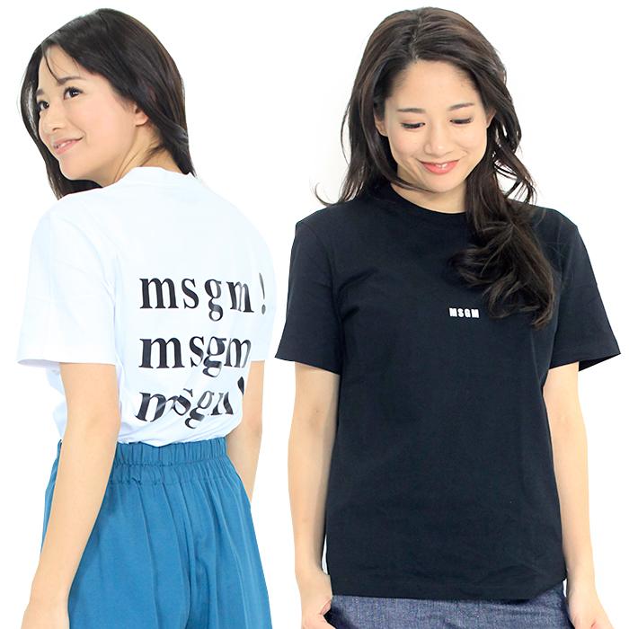 エムエスジーエム MSGM ロゴプリントTシャツ 2841MDM225 298 レディース 【キャッシュレス還元対応】