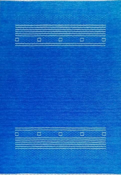 ウール ラグ 約140x200cm ギャッベ ギャベ インド 玄関 マット インテリア アート 芸術 おしゃれ リビング ダイニング ソファ ベッド シンプル 青 北欧 インドギャッベ かわいい 手織り 絨毯 プレゼント