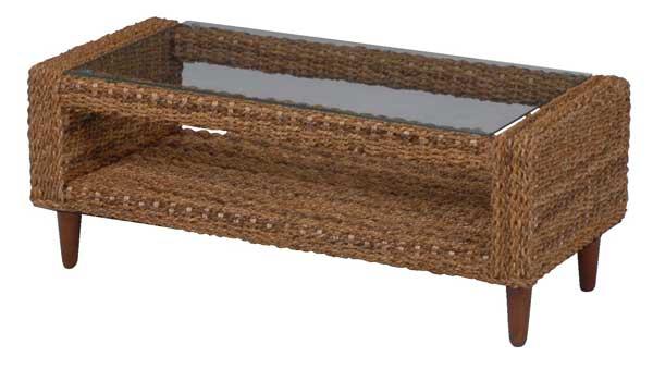 アバカテーブル ライトブラウン色フレーム 100巾