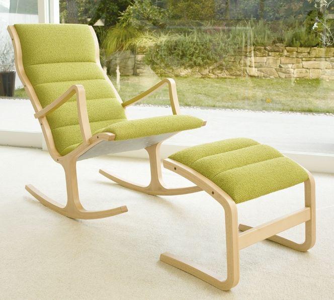 ロッキングチェアー オットマン(脚置き)付 国産品 5色対応 天童木工