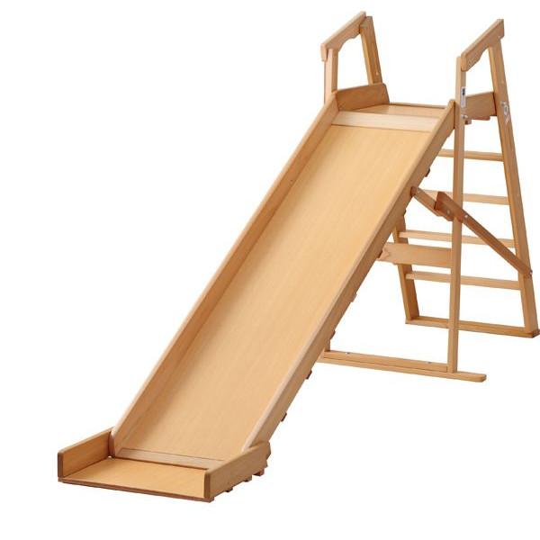 木製すべり台 木目(大) 国産品 滑り台 遊具