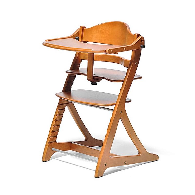 ベビーチェア すくすくチェア プラス 1502LB テーブル&ガード付 ライトブラウン色 大和屋 あす楽対応