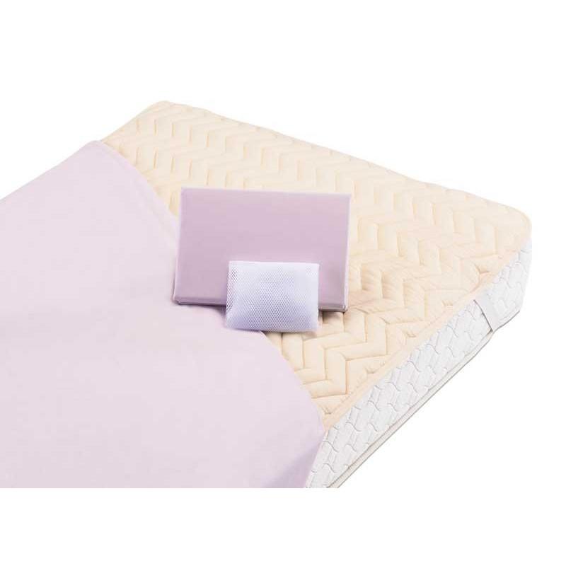 ベッド用シーツ、ベッドパッド3点パック ワイドシングル 4色対応 フランスベッド社製