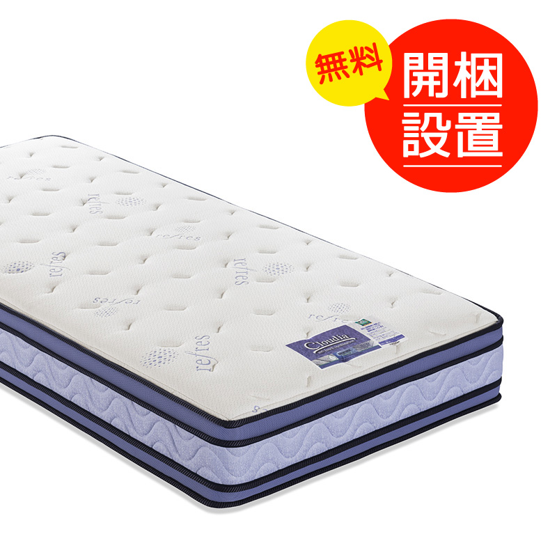 開梱設置 ダブルサイズ フランスベッド社製 CL-BAE シルキーSPL 女性のためのベッドシリーズ「クラウディア」国産品 端まで強い広々マットレス プロ・ウォール仕様