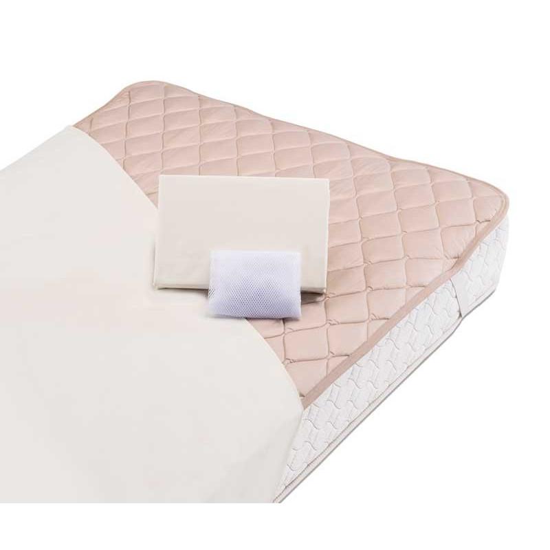羊毛3点パック ベッド用シーツ、ベッドパッド セミダブルロング 4色対応 グッドスリーププラス フランスベッド社製