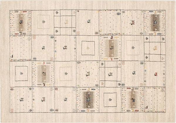 ジュウタン カーペット ラグ 133×195cm ベージュ色 長方形 ラヴィ ホットカーペットOK