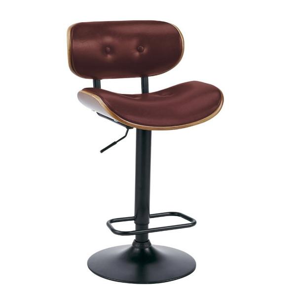 椅子/カウンターチェアー バーチェア KNC-G668 レッド色 組立式