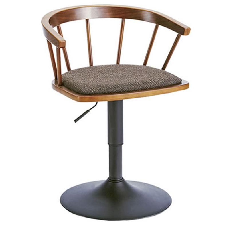 椅子/カウンターチェア ダイニングバーチェア EMOT エモート ブラウン色 組立式 360度回転式