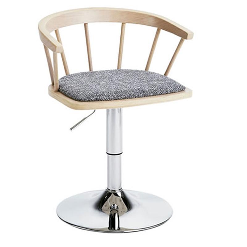 椅子/カウンターチェア ダイニングバーチェア EMOT エモート ナチュラル色 組立式 360度回転式