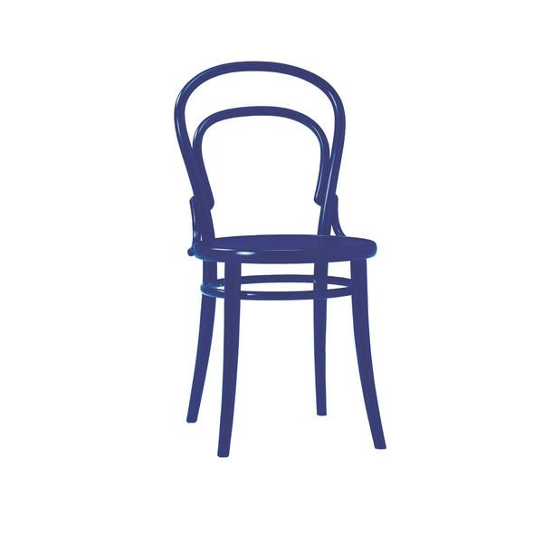 ダイニングチェア 伝統的な「曲げ木」技法で有名なTON社のチェコ製 曲げ木椅子 BCZ-8048-BL ブルー色