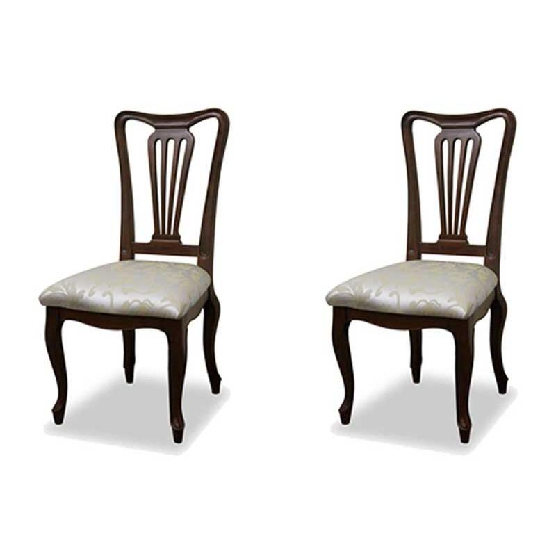 ダイニングチェア 食卓椅子 ケントハウスチェアG 2脚セット オリエント柄 ブリティッシュクラシックデザイン アンティークテイスト