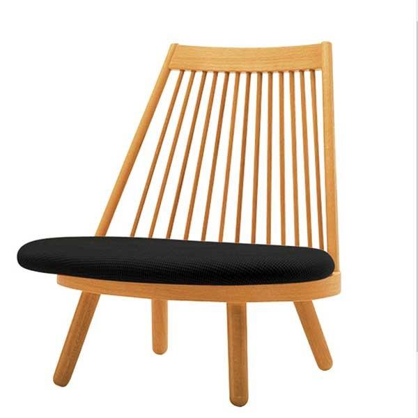 和風座いす 布張り高座椅子 スポークチェアー Aランク布張り 10色対応 天童木工 ザイス 座いす