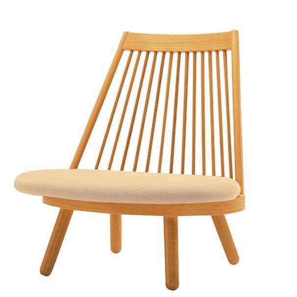 和風座いす 布張り高座椅子 スポークチェアー Cランク布張り 5色対応 天童木工 ザイス 座いす