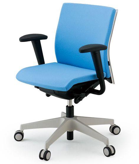 デスクチェアー 布張り肘付回転椅子 7色対応 コペル イトーキ製