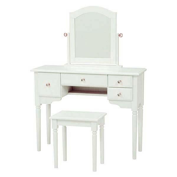 高級品市場 鏡台 一面ドレッサー ホワイト色一面鏡 スツール付 ドレッシースタイル, モリオカシ 3fde15b1