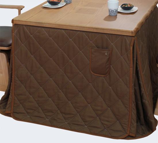 ハイタイプ高脚こたつ布団/ダイニングコタツふとん 正方形90センチ角こたつテーブル用 KF505-90