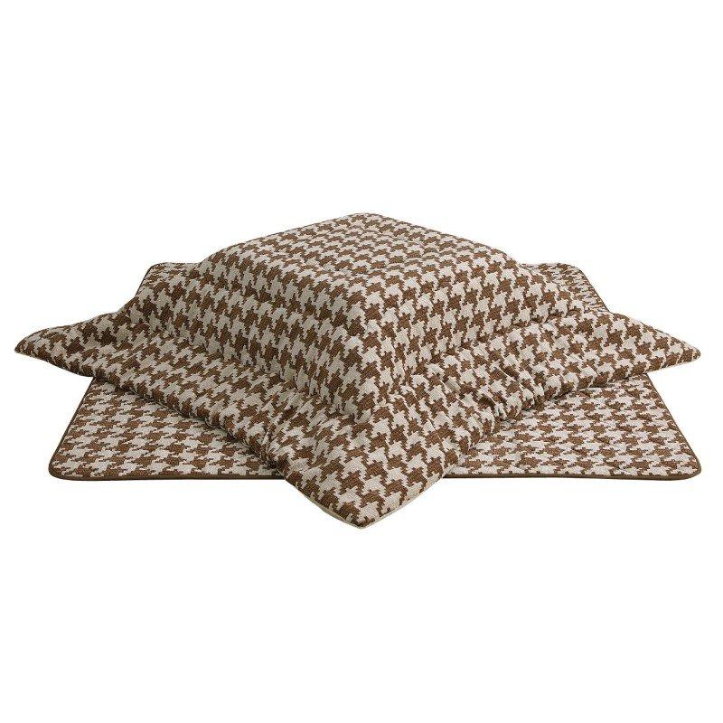 こたつ布団 正方形こたつ厚掛けふとん(掛敷きセット) 正方形80巾こたつ用 千鳥柄II80