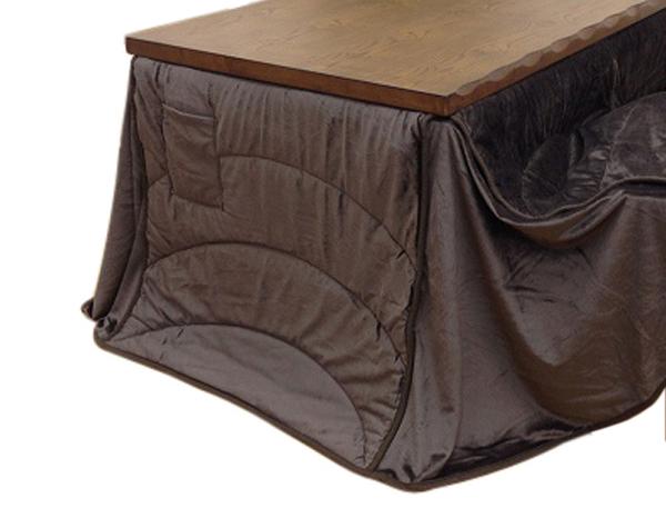 ハイタイプ高脚こたつ布団/ダイニングコタツふとん 長方形150×90巾こたつ用 薄掛け布団 フィーラ235×295 ハイタイプ高脚