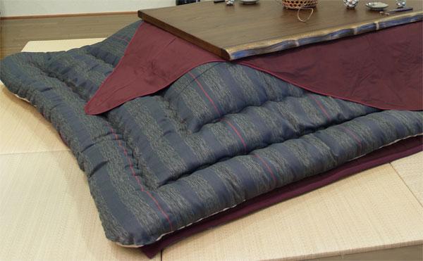 長方形こたつ布団厚掛敷セット 150センチ巾こたつ用 KF-382