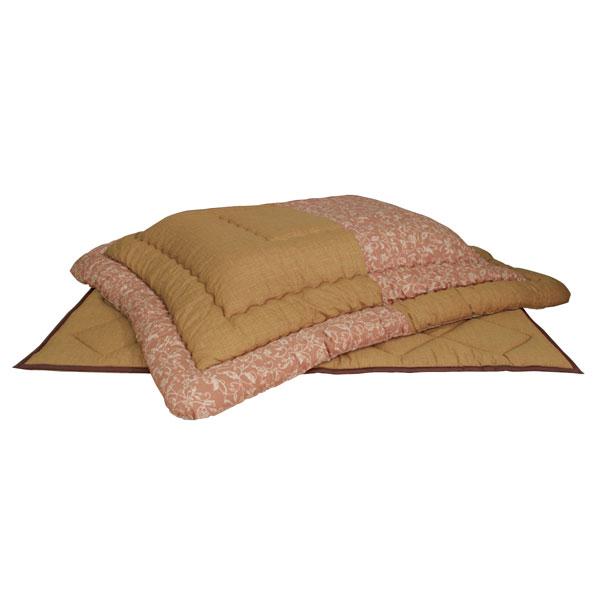 こたつ布団 長方形こたつ布団掛敷きセット 105~120センチ巾こたつ用 KF-383 国産品