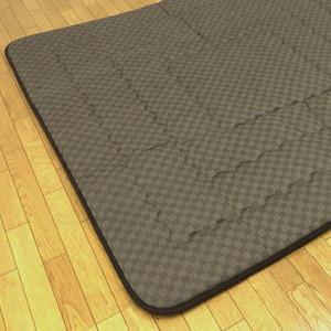 正方形こたつ用敷布団(ラグ/カーペット) 190×190サイズ クレタ ブラウン色(茶色)