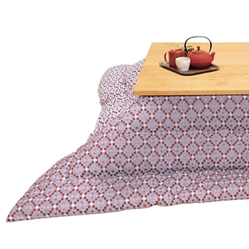 こたつ布団 薄掛け ミッケリ250 RE(レッド色) 長方形105~120巾コタツ用 長方形用コタツふとん(掛け単品)