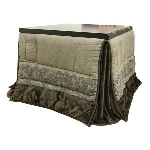 ダイニングこたつ布団 正方形85~90巾コタツ用 ノワ-ル235 ハイタイプ高脚用薄掛け布団