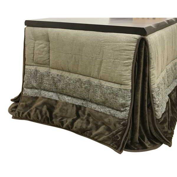 ダイニングこたつ布団 長方形150巾コタツ用 ノワール290 ハイタイプ高脚用薄掛け布団