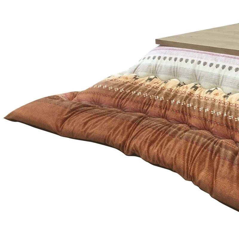 こたつ布団 厚掛け ラディ245 OR(オレンジ色) 長方形105~120巾コタツ用 長方形用コタツふとん(掛け単品)